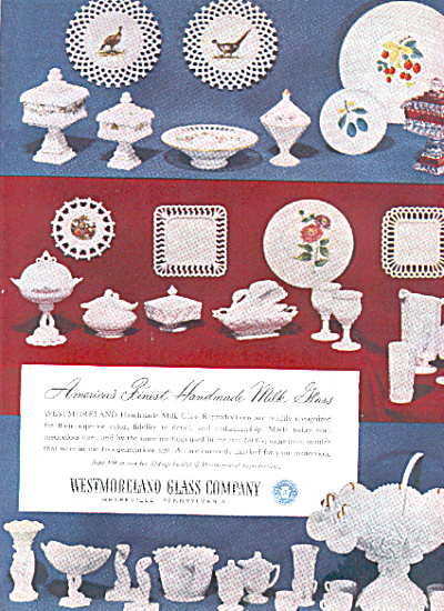 1951 Westmoreland MILK GLASS HUGE Pattern AD (Image1)