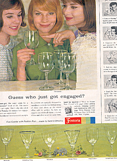 1962 Fostoria Glass 7 Pattern AD Trousseau ++ (Image1)