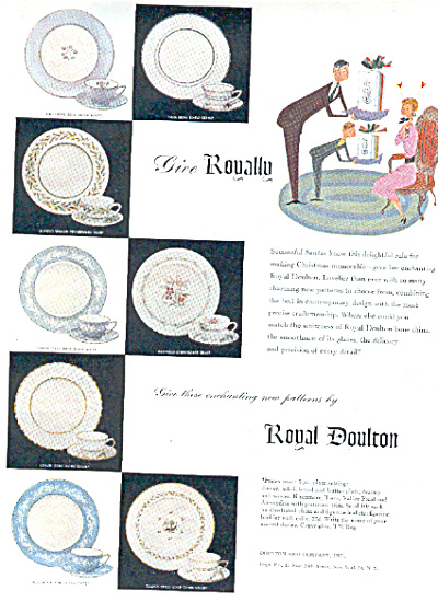 1953 ROYAL DOULTON Dinnerware China 8 AD (Image1)