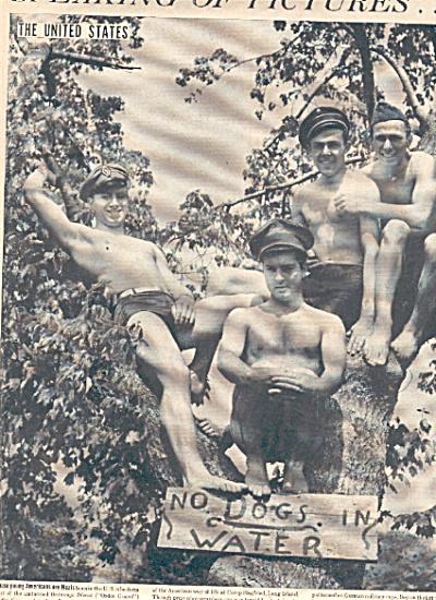 1940 NAZI American MEN HUGGING Pic AD (Image1)