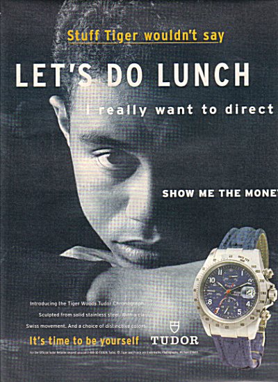 1997 TIGER WOODS Tudor LET'S DO LUNCH AD (Image1)