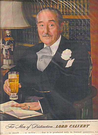 1940 LORD CALVERT Adolphe Menjou Actor AD (Image1)