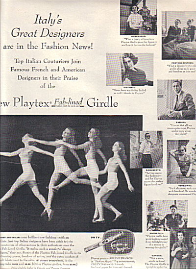 1951 PLAYEX Italy DESIGNERS Bra Girdle AD (Image1)