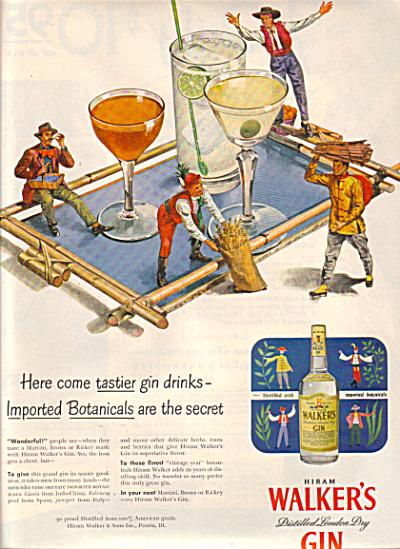 1951 Hiram Walkers Gin IMPORTED BOTANICAL AD (Image1)