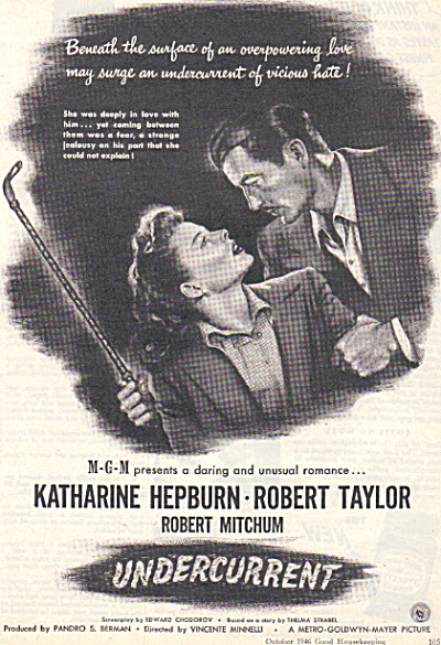 1946 Undercurrent Katharine Hepburn Movie Ad