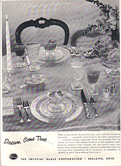1952 IMPERIAL Glass Cape Cod Pattern AD (Image1)