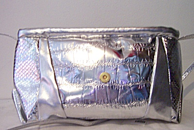 Vintage Nos Purse Lines Silver W Design On The Outside