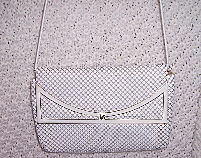 Vintage Metallic White Purse