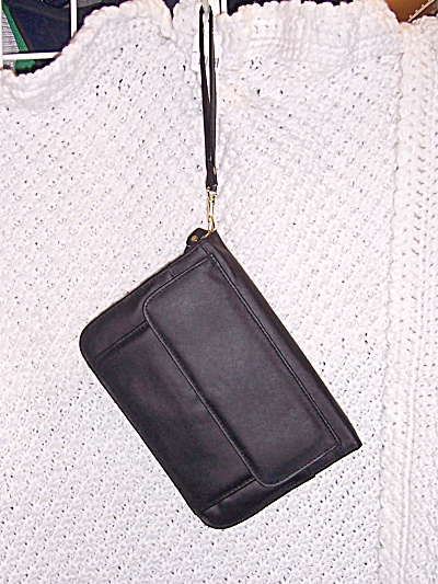Vintage Nos Black Hand Bag Purse