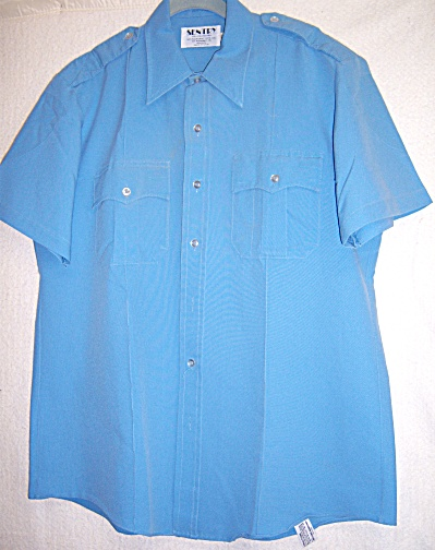 Sentry Polyester Police Uniform Shirt 16 1/2 Blue