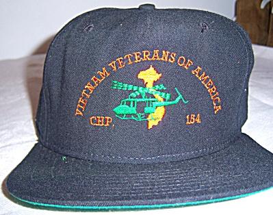 Vintage Snapback Cap Hat Vietnam Veterans Chapter 154  (Image1)
