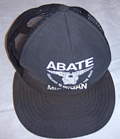 Vintage ABATE Michigan Snapback Trucker Cap Hat (Image1)