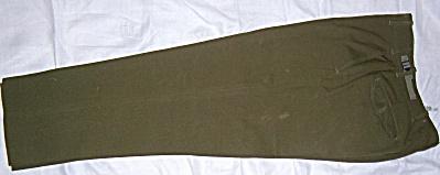Vintage M-1951 U.S. Military Olive Drab Wool Field Trou (Image1)