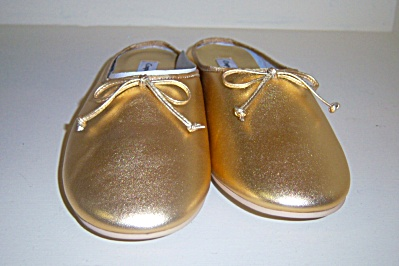 Vintage New Nos Shoes Coup D'etat Gold Flats Flat Shoes