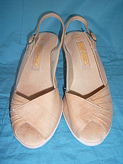 Vintage New Nos Shoes Walkables Tan Shoes Size 6w