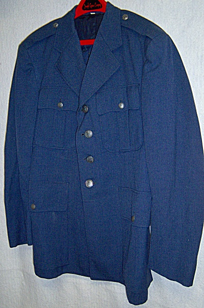 1958 Us Usaf Wool Coat And Trousers Blue 40 R 38 X 31