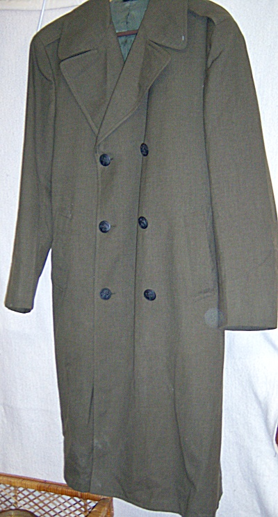 USMC Military Vietnam ERA 1969 Wool Overcoat US Marines (Image1)