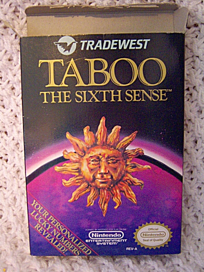 Taboo: The Sixth Sense  (Nintendo, 1989) CIB - BOX GAME (Image1)