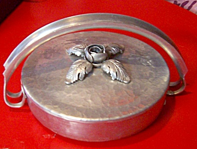 Vintage 1950's Continental Wrought Hammered Aluminum  (Image1)