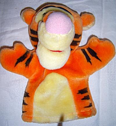Disney Plush Winnie The Pooh Bear Tigger Hand Puppet (Image1)