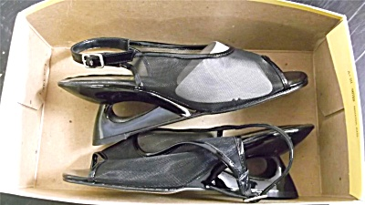 Vintage New Nos Shoes Annie Black Shoes Size 7w
