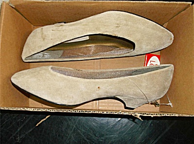 Vintage New Nos Shoes New Proportions Off Tan Suede