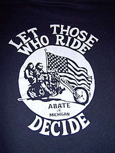 Vintage 1980's ABATE CHOPPER Let Those who Ride Decide  (Image1)