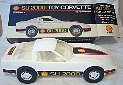 PROMO 1985 SHELL Oil Toy CORVETTE SU 2000 CAR IOB (Image1)