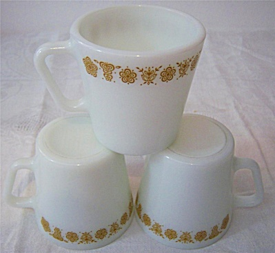 Pyrex Corning Corelle 3 BUTTERFLY GOLD / Golden  (Image1)