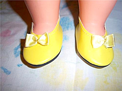 New Yellow Flats Doll Shoes Fit American Girl