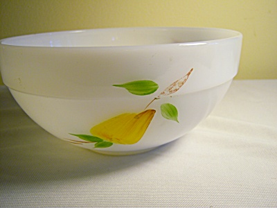 FIRE KING GAY FAD Mixing / SERVING BOWL FRUITS Colonial (Image1)
