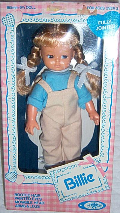 1979 Playmates Doll BILLIE NRFB MIB 6 1/2 in FULLY JTD (Image1)