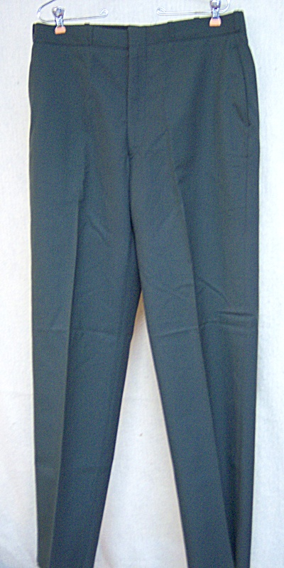 1982 US Tropical Army Green Men's Trousers Poly/Wool  (Image1)