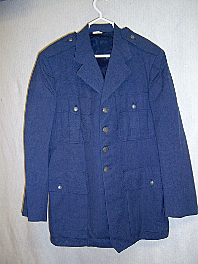 19619 VIETNAM ERA Wool Serge Blue COAT Jacket  Tropical (Image1)