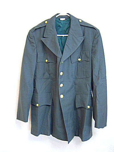 1984 U.S Military Coat ARMY  Poly/Wool Serge Green 344  (Image1)