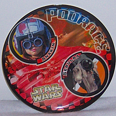 Star Wars Podrace Plastic Plates Anakin and Sebulba  (Image1)