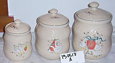 INTERNATIONAL CHINA Marmalade Country Duck 6pc CANISTER (Image1)