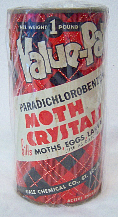 Dale Chemical Vintage MOTH BALLS CRYSATAL Tin Full of M (Image1)