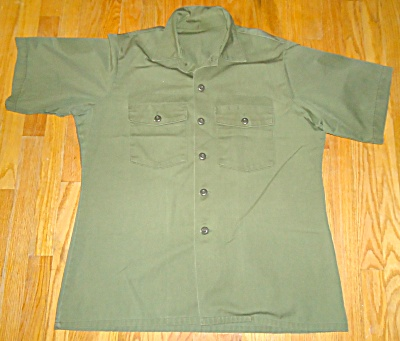 US ARMY OG 507 Short Sleeve Warm Weather Utility Shirt (Image1)
