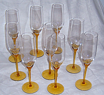 NINE COLONY AMARYLLIS Irdescent FLUTES Fluted Champagne (Image1)