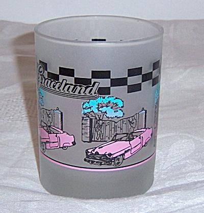 Elvis Presley Graceland Frosted Glass Tumbler - PINK  (Image1)