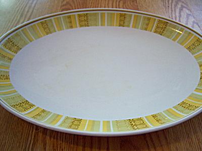 ANTIGUA ~ Vintage Franciscan WhiteStone Ware Platter (Image1)