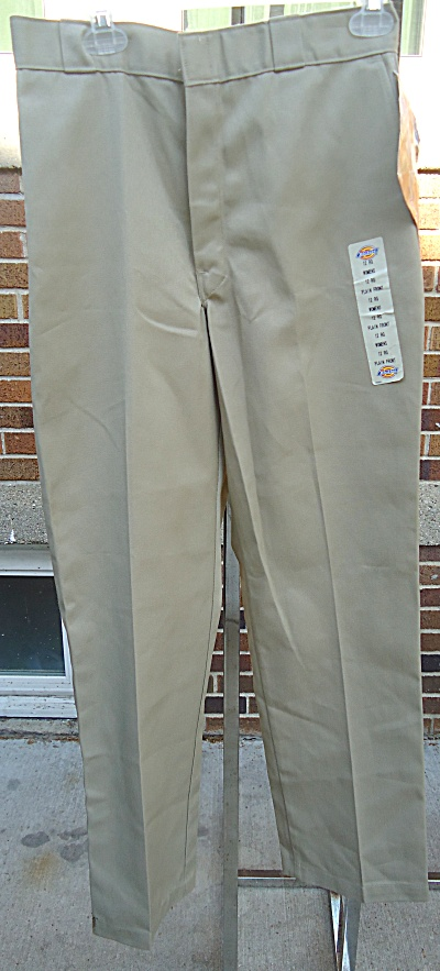 Nwt New Dickies Women's Reg Khaki Pants Plain Front 12