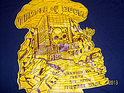 Vintage V Neck Temple Of Doom - Enter Hell Dante Graphi