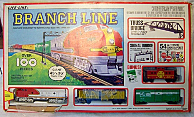 Branch Line Train Set Life Like Ho Scale Original Santa