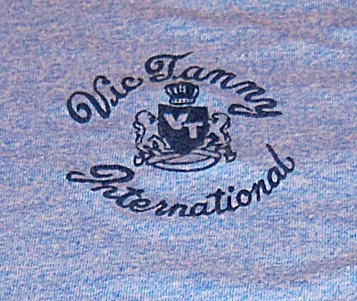 Vintage VIC TANNY International RINGER T SHIRT Flocked  (Image1)