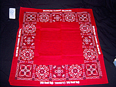 NOS Lionel TRAIN Red Kerchief BANDANA NEW OLD STOCK (Image1)