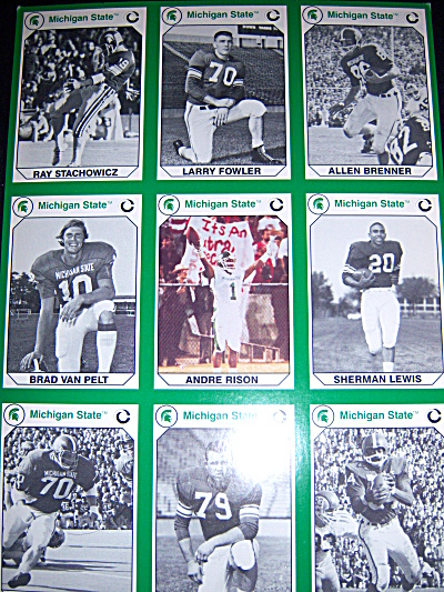 Whole Uncut Sheet 1990 Michigan State MSU Spartans Foot (Image1)