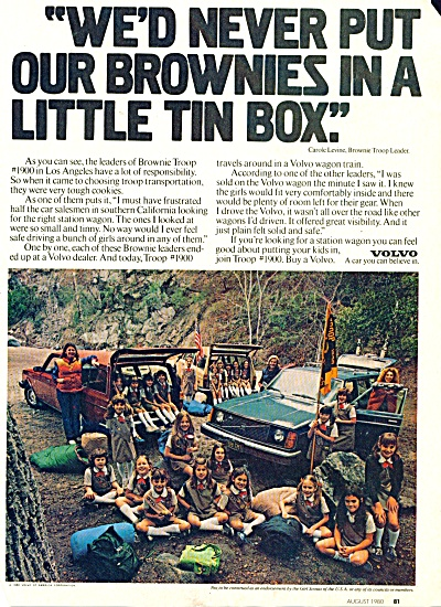 1980 VOLVO Scout Brownie Troop #1900 LA CA ad (Image1)