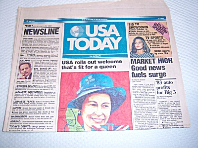 Newspaper: 1983 Usa Today Feb 25 Complete 4 Section